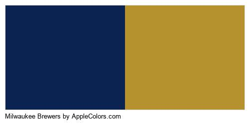 Milwaukee Brewers Colors Logo