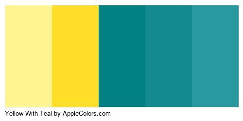 Yellow With Teal Color Colors Logo