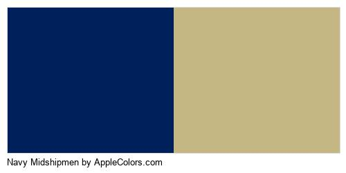 Navy Midshipmen Colors Logo