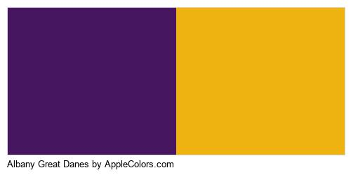 Albany Great Danes Colors Logo
