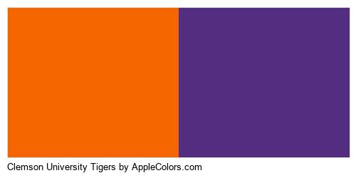 Clemson University Tigers Colors Logo