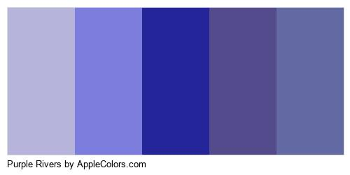 Purple Rivers Palette Colors Logo