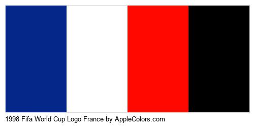 1998 Fifa World Cup Logo France Brand Colors Logo