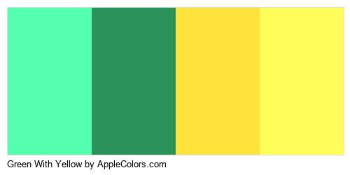 Green With Yellow Brand Colors Logo