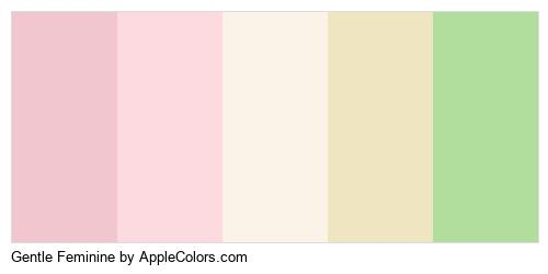 Gentle Feminine Palette Colors Logo