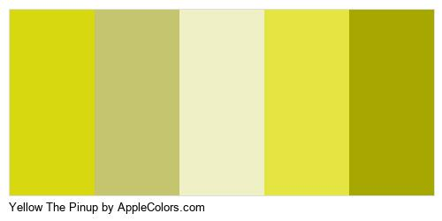 Yellow The Pinup Palette Colors Logo