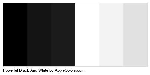 Powerful Black And White Color Colors Logo