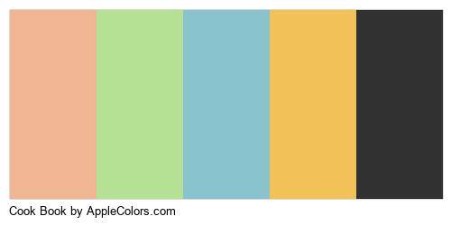 Cook Book Color Colors Logo