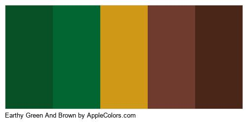 Earthy Green And Brown Brand Colors Logo