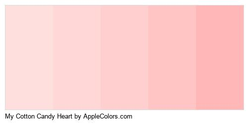 My Cotton Candy Heart Color Colors Logo