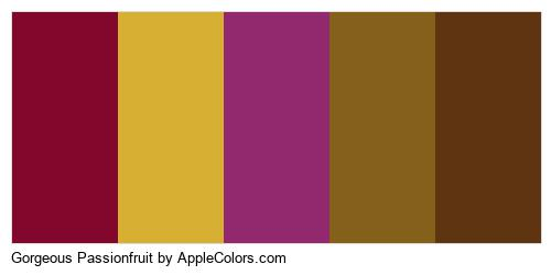 Gorgeous Passionfruit Palette Colors Logo