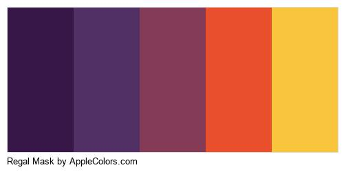 Regal Mask Palette Colors Logo