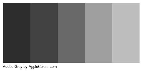 Adobe Grey Color Colors Logo