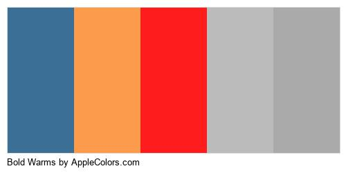 Bold Warms Color Colors Logo