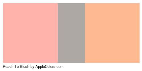 Peach To Blush Palette Colors Logo