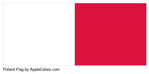 Poland Flag Palette Colors Logo