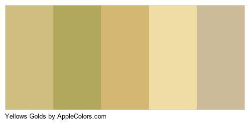 Yellows Golds Palette Colors Logo