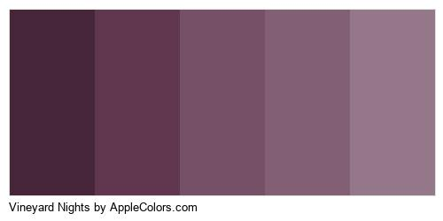 Vineyard Nights Palette Colors Logo