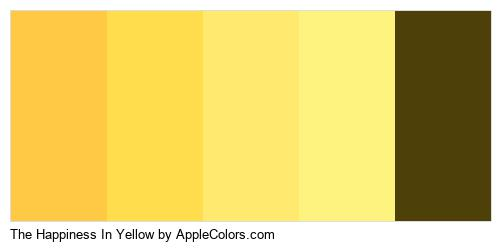 The Happiness In Yellow Palette Colors Logo