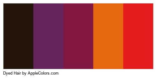 Dyed Hair Palette Colors Logo