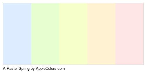 A Pastel Spring Brand Colors Logo