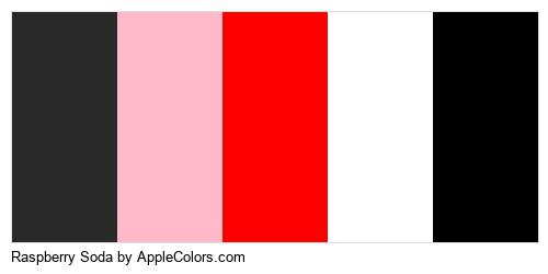 Raspberry Soda Color Colors Logo