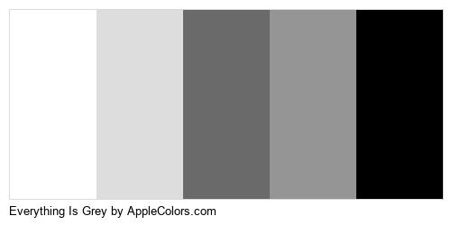 Everything Is Grey Color Colors Logo