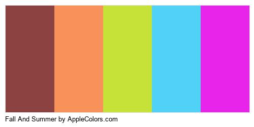 Fall And Summer Palette Colors Logo