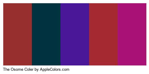 The Osome Coler Brand Colors Logo
