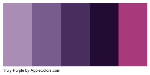 Truly Purple Brand Colors Logo