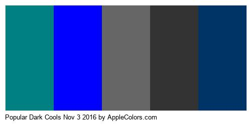 Popular Dark Cools Nov 3 2016 Brand Colors Logo