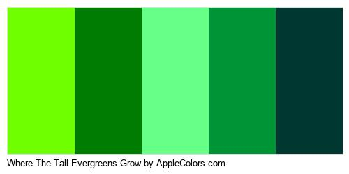 Where The Tall Evergreens Grow Palette Colors Logo