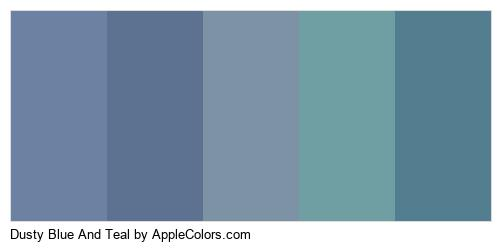 Dusty Blue And Teal Palette Colors Logo