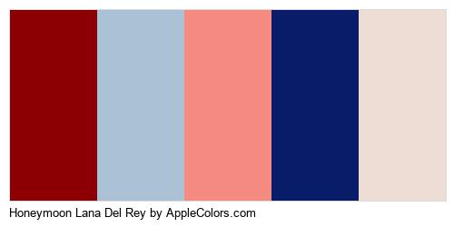 Honeymoon Lana Del Rey Color Colors Logo