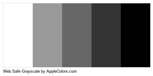Web Safe Grayscale Palette Colors Logo