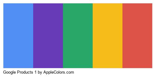 Google Products 1 Color Colors Logo