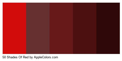 50 Shades Of Red Color Colors Logo