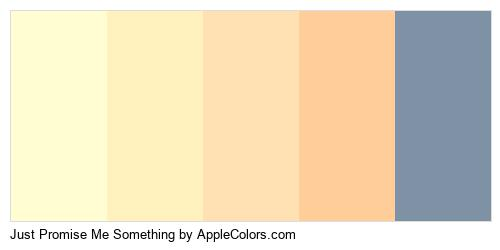 Just Promise Me Something Palette Colors Logo