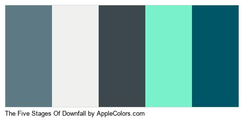 The Five Stages Of Downfall Color Colors Logo