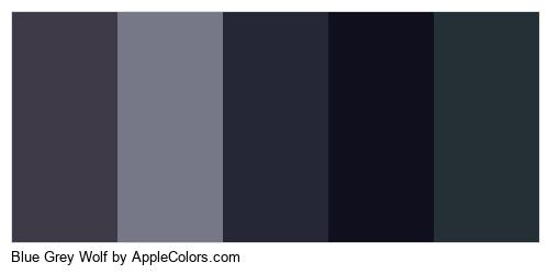 Blue Grey Wolf Palette Colors Logo