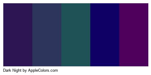 Dark Night Palette Colors Logo