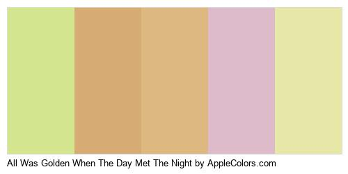 All Was Golden When The Day Met The Night Logo Colors Logo