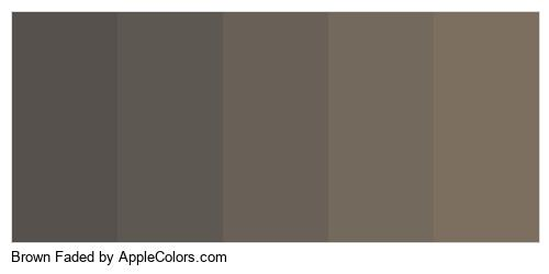 Brown Faded Brand Colors Logo