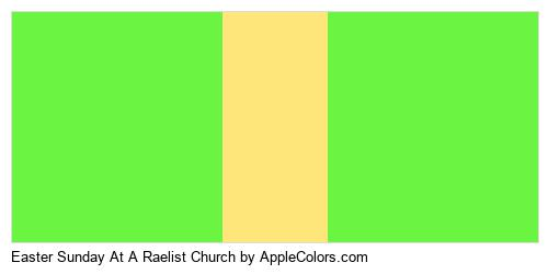 Easter Sunday At A Raelist Church Color Colors Logo