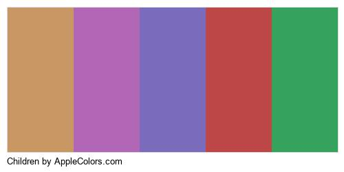 Children Palette Colors Logo
