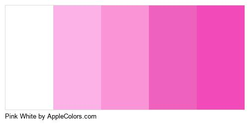 Pink White Palette Colors Logo