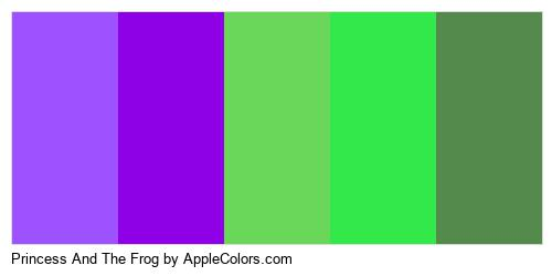 Princess And The Frog Palette Colors Logo