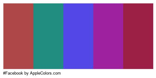 #Facebook Brand Colors Logo