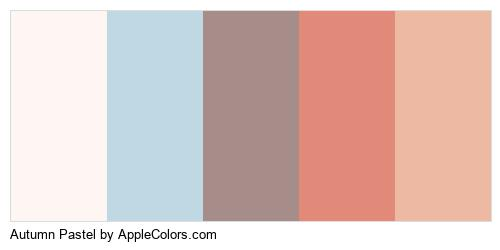 Autumn Pastel Palette Colors Logo