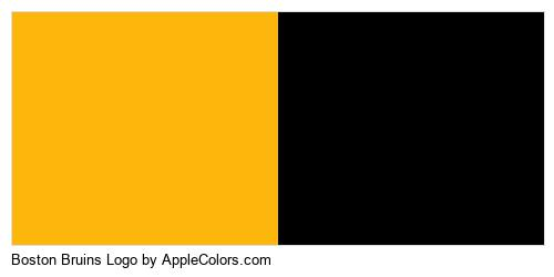 Boston Bruins Logo Color Colors Logo